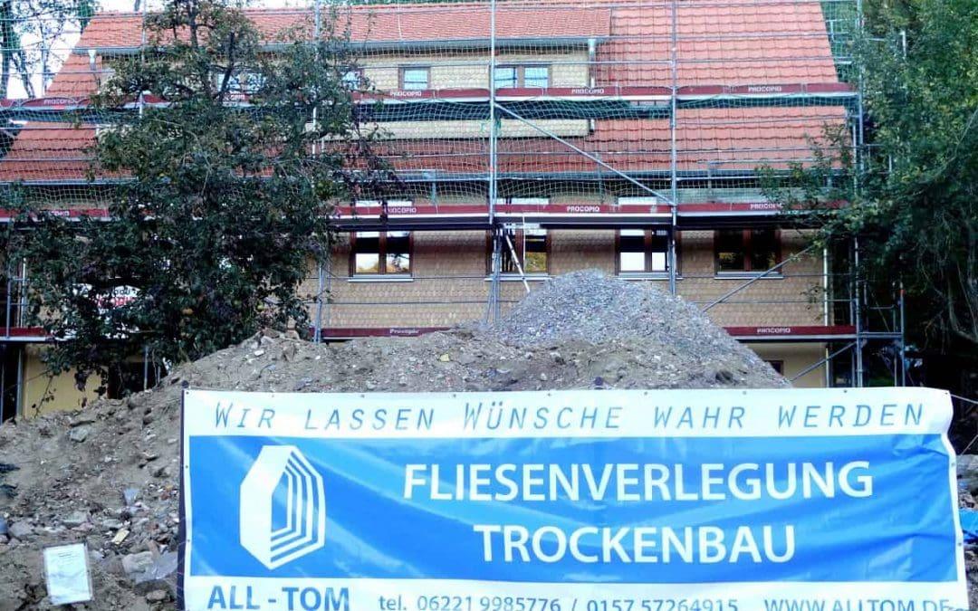 Trockenbauarbeiten an der Baustelle in Mörlenbach haben begonnen!