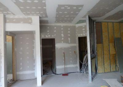 Altbausanierung Trockenbauarbeiten, Schall- und Brandschutz, Spachtelarbeiten
