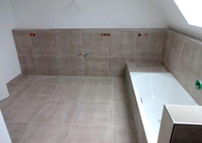 Fliesenarbeiten im Bad und Gäste-WC, Neubau in Mannheim