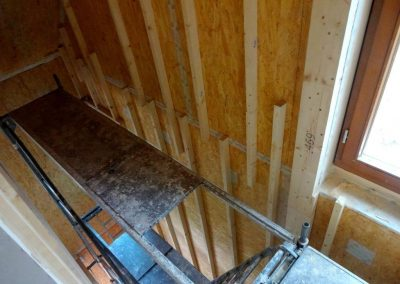 innenausbau vom fertighaus, spachtelarbeiten 10