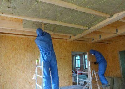innenausbau vom fertighaus, spachtelarbeiten 12