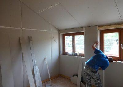 innenausbau vom fertighaus, spachtelarbeiten 4