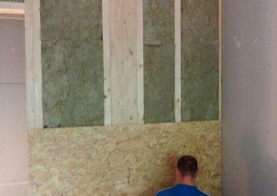 innenausbau vom fertighaus, spachtelarbeiten 8