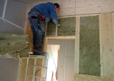 innenausbau vom fertighaus, spachtelarbeiten 9