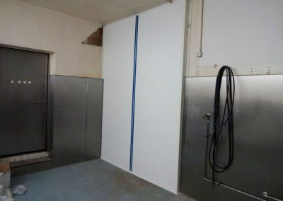 trockenbau, freva system, produktionshalle in heidelberg-ziegelhausen 1