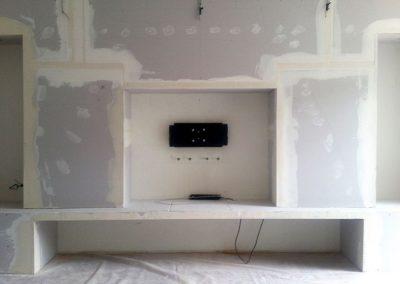 Trockenbau-TV-Wand und Schallschutz in Nussloch